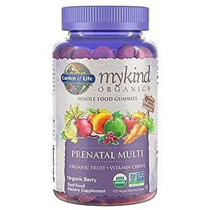 Organics Prenatal Gummy Vitamins – Berry – Organic, Non-GMO, Vegan, Kosher Complete Multi – Methyl B12, D3 & Folate – Gluten, Soy & Dairy Free – 120 Real Fruit Chew Gummies