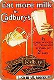 Eat More Milk In Cadbury'S Jahrgang Blechschild Kunst