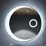 GETZ Espejos de tocador de Pared, retroiluminado por LED, Espejo Redondo para...