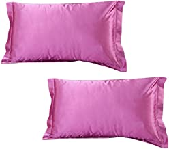 Dehman 2X 100-Percent Silky Satin Hair Beauty Pillowcase (Pink, Standard Size,20X26 INCHES)