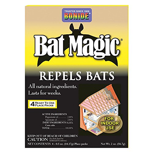 Bonide (BND876) - Bat Magic Ready to Use Indoor Bat Repellent Scent Packs (4 pack)