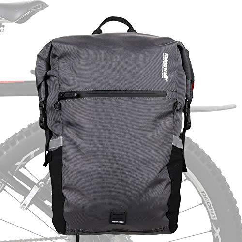 Rhinowalk Multifunktionell 24 l cykelcykelväska vattentät cykel baksäte väska laptop ryggsäck motorväska bagageväska