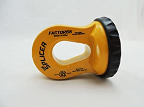 FACTOR 55 THE SPLICER Sintetic Rope Shackle Mount (Safety Yellow)