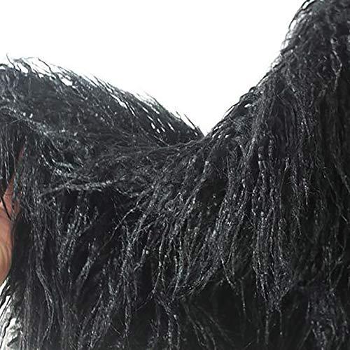 Alpaca Mongol Rizada De Piel Sintética Falsa Peluda Suave para Decoración De...