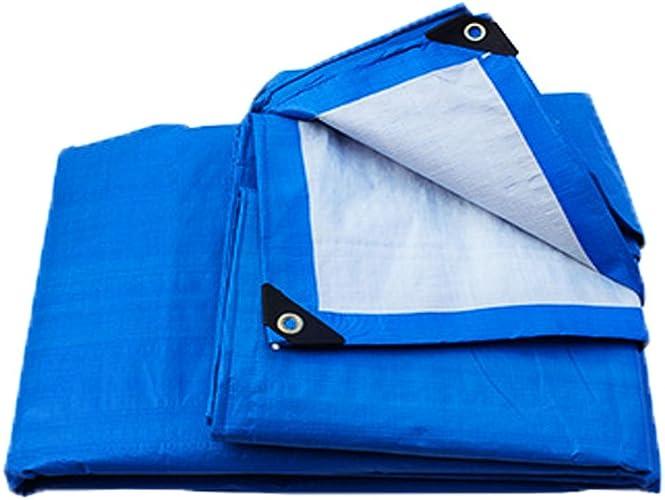 Épaisseur 0.38mm imperméable à l'eau Pliage résistant à l'humidité en polyéthylène tissé (Couleur   Bleu et Blanc, Taille   4M5M)