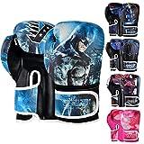 VELO Guantes de boxeo para niños Mitones para niños 6 oz, 4 oz Bolsa de entrenamiento Sparring Gel Punch Glove mma Punchbag Pad Punching (4 oz, Batman)