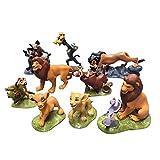 wjf 9 Estilos Di Tuni Rey león Simba Animado de Juguete Ornamento Modelo 5-9CM