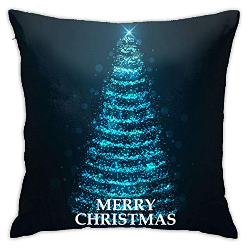 XCNGG Kissenbezug Home Living Room Bedroom Custom Decoration Sofa Cushions Merry Christmas Card Christmas Tree Floors and Other Multi Purpose Pillowcases 18x18 in