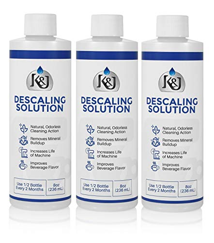 3-Pack Universal Descaling Solution - USA MADE - Descaler for Keurig, Cuisinart, Breville, Kitchenaid, Nespresso, Delonghi, Krups, and all other coffee brewers - by K&J