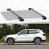 LLDS Compatible avec BMW X3 Barres De Toit Railing en Aluminium pour Compatible avec...