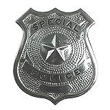 Widmann- Distintivo Polizia, Colore Argento, Taglia Unica, 3302A