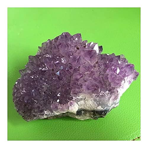 YELVQI Cristal de curación Natural Amathyst Cluster Mineral Cuarzo Druse Druse Druse Suring