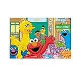 Berühmte Kunst-Gemälde Poster Sesamstraße Kind Cartoon