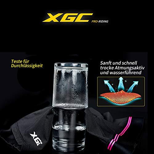 XGC Damen Radunterhose Radsportshorts Fahrradhosen mit elastische atmungsaktive 4D Gel Sitzpolster mit Einer hohen Dichte (Black, M) - 5