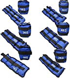 Set 2 pesas para tobillos y muñecas   Pesas para tobillos de 0.5KG a 6KG Peso Total Entre Las 2 Pesas, Diferentes tamaños. Transpirable   Pesas ajustables para correr   Lastres de tobillos y muñecas