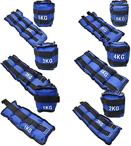 Vencede Set 2 Pesas para Tobillos y muñecas Pesas para Tobillos de 0.5KG a 6KG Peso Las 2 Pesas Diferentes tamaños Transpirable Pesas Ajustables para Correr Lastres de Tobillos y muñecas (2 x 2.5KG)