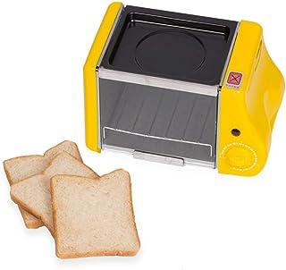 Mini horno de panadería eléctrico multifuncional Horno asado, parrilla Huevos fritos Tortilla Sartén Máquina de desayuno Tostadora de pan, Mini desayuno 1.5L Horno pequeño, disponible en tres colores