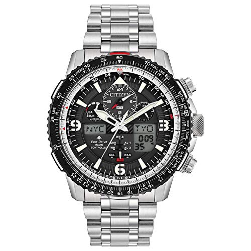 Citizen Men's Promaster Skyhawk A-T Quartz Watch with Stainless Steel Strap, Silver, 22 (Model: JY8070-54E)