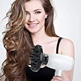 Haartrockner, MANLI ionen Haartrockner Föhn Mini-Größe Haartrockner leistungsstarker power mit Fön Diffusor StylingDüse für Familie Reisen Frauen und Männer - 7