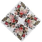 Raebel Tischdecke Mitteldecke Decken Tischläufer Läufer Rosen Garten Bunt Polyester (Deckchen 40 x 40 cm)