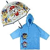 Paraguas Transparente Infantil y Chubasquero Pack Patrulla Canina, Mango en...