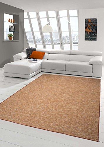 Traum Teppich Teppich Modern Flachgewebe Küchenteppich Indoor Teppich Outdoor Teppich beidseitig nutzbar Farbe Terra, Größe 120x160 cm