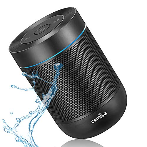 Portable Bluetooth Speaker, COMISO Bluetooth Wireless Mini Pocket Speaker, 360 HD Surround Sound & Rich Stereo Bass, 12H Playtime, IPX5 Waterproof for Travel, Outdoors, Home and Party
