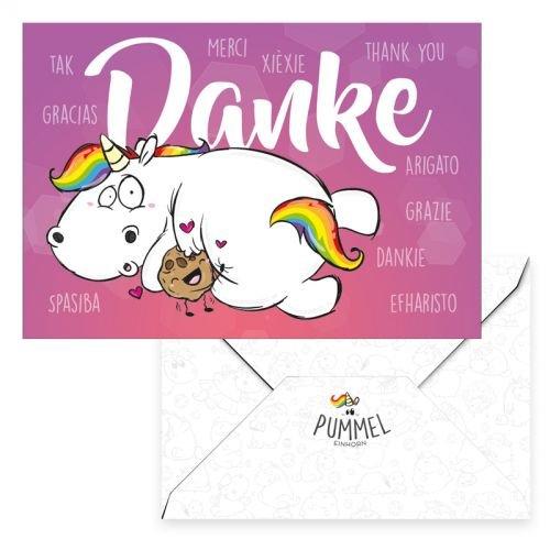 Pummel & Friends - Grußkarte - Pummeleinhorn (Danke)