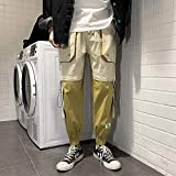 Pantalones de chándal holgados de monos holgados para hombre Cintura elástica...