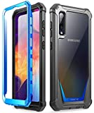 Poetic Guardian Series Case Designed for Samsung Galaxy A50/A50s Case, Full-Body Hybrid Shockproof Bumper Cover with Built-in-Screen Protector, Blue/Clear