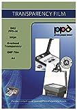 PPD-34-50 Lot de 50 Feuilles de Film Transparent pour Jet d'encre A4