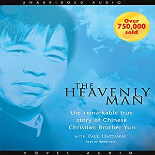 Heavenly Man     The Remarkable True Story of Chinese Christian Brother Yun              Written by:                                                                                                                                 Brother Yun                               Narrated by:                                                                                                                                 Cristofer Jean                      Length: 9 hrs and 52 mins     17 ratings     Overall 4.9