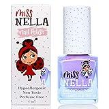 Miss Nella BUBBLE GUM- Esmalte especial para uñas para niños, fórmula despegable, a base de agua y sin olor