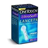 LifeScan ONE TOUCH UltraSoft lancets - Sku LFS020393_BX100