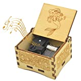 Sooharic Mermaid Music Box, Wind-up Mechanism, Cute Collection, Antique Carved Musicial Box Crafts (Wind-up)