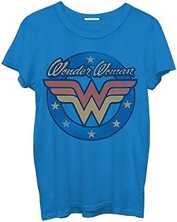 Wonder Woman Logo Juniors Blue T-Shirt