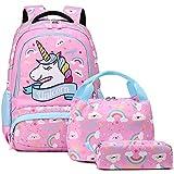 Zaino Ragazza Zaino Unicorno Bambina Zaini Scolastico Elementari Bambini Girls Backpack Set per la Scuola Borsa per Ragazze Zainetto