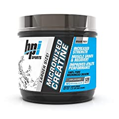 100% PURE CREATINE: BPI Sports Micronized Creatine is 100% pure creatine that helps to increase strength, reduce fatigue, improve lean muscle building, and supports muscle growth LEAN MUSCLE BUILDING: Our natural creatine powder delivers potent muscl...