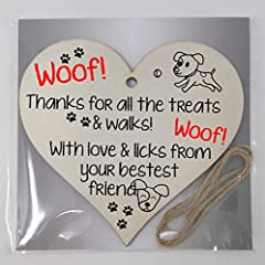 Handmade Wooden Hanging Heart Plaque Gift for Dad this Fathers Day Dog Novelty Fun Keepsake #3