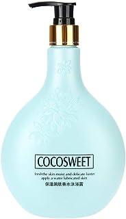 ボディシャンプー、500ml香り保湿シャワージェル天然成分クリーンボディスキンケアバスルームアクセサリー(Blue)