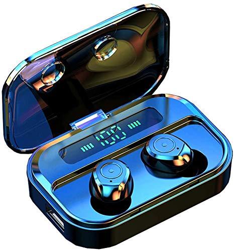 Luisport Wireless Headphones Earphones,Wireless Earbuds Bluetooth Earbuds Bluetooth Earphones Bluetooth Headphones with Battery Case (11-F-Black)