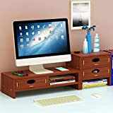UYASDASFAFGS Multimedia Ergonomico Computer Monitor Riser,Legno Desktop Supporto per Monit...
