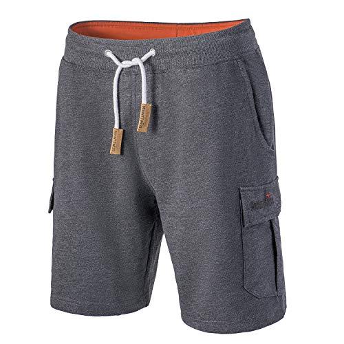 Mount Swiss Cargo Shorts Herren I Moderne Cotton Bermuda Shorts für Herren mit 6 Taschen & Klett- BZW. Reiß-Verschluss I Freizeit Cargo Hose Herren kurz in klassischen Farben Größe S - 6XL,Dunkelblau