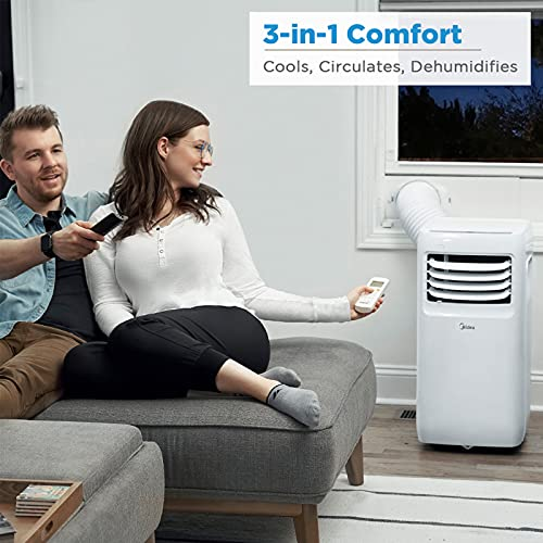 Midea MAP08R1CWT Portable 3-in-1 Air Conditioner Product Image