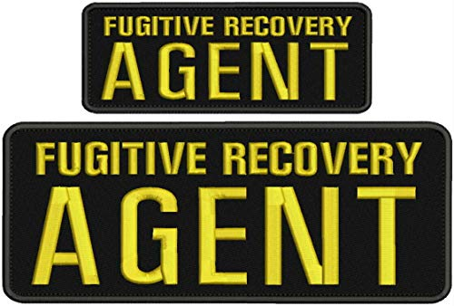 COLIBROX Embroidered Patch - Patches for Women Man - Fugitive Recovery Agent Hook Gold Letters