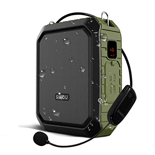 W WINBRIDGE® Amplificador de voz Bluetooth Exterior Portátil Recargable con micrófono inalámbrico 18W 4400mAh para profesores, guías turísticos, entrenadores, etc. M800 (Inalámbrico)