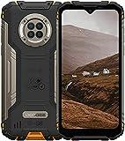 Outdoor Handy mit Nachtsicht, DOOGEE S96 Pro, 8GB + 128GB Helio G90, 48MP + 20MP Kamera, 6.22' UHD + 6350mAh + 4G Dual SIM Wasserdicht NFC GPS, Robustes Android Smartphone Im Freien(Orange)