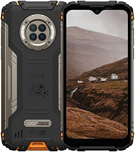 "Outdoor Handy mit Nachtsicht, DOOGEE S96 Pro, 8GB + 128GB Helio G90, 48MP + 20MP Kamera, 6.22\"" UHD + 6350mAh + 4G Dual SIM Wasserdicht NFC GPS, Robustes Android Smartphone Ohne Vertrag(Orange)"