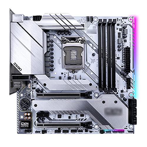 Fit for Placa Base Colorida CVN Z590M Gaming Frozen V20 M.2 SSD PCI-E X16x4 128GB DDR4 Placa Base para Juegos para 11600K / 11700K / 11900K
