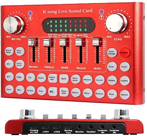 Juego Boy Tarjeta De Sonido De Cambiador De Voz Bluetooth, Mezclador De Audio DJ Con Múltiples Efectos De Sonido Para Transmisión En Vivo, Grabación De Música, Juego En Línea, Canto, Soporte Para Telé